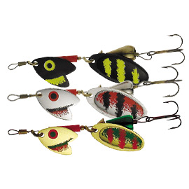 Блесна вращ. Mepps Tandem Trout №1 Black/Silver/Red