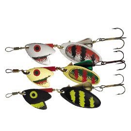 Блесна вращ. Mepps Tandem Trout №2 Black/Silver/Red